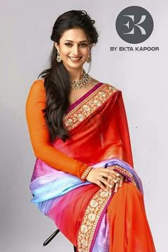 Divyanka Tripathi promoting 'EK' a saree brand by Ektha kapoor.