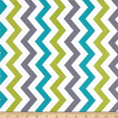 Michael Miller Shi-Shi Chevron Lagoon from @fabricdotcom  Designed for Michael Miller Fabrics, this fabric is perfect for quilting, apparel and home décor accents.  Colors include lime, aqua, grey and white.