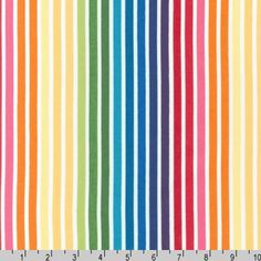 **This beautiful fabric is sold by the 1/2 yard (18) and cut fresh from the bolt (full width) in one continuous piece.**  This beautiful rainbow is so vibrant it brings endless happiness.  Manufacturer: Robert Kaufman Collection: Rainbow Remix Width: 44/45 Contents: 100% cotton  *~*~*~* Please note: I almost always have more fabric than listed here. Please contact me if you need more than listed on my Etsy store *~*~*~*~*  **BUY MORE & SAVE!! Flat rate $6 U.S. shipping no matter...