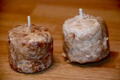 Easy way to make Grubby Candles
