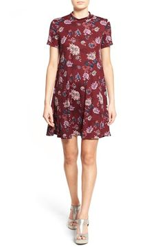 Free shipping and returns on Lush Floral Print Mock Neck Dress at Nordstrom.com. A colorful floral print creates a vintage look on a swingy rib-knit dress styled with slender sleeves and a face-framing mock neck.