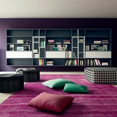 'Grey' Contemporary wall mounted bookcase by Morassutti : Dressers & sideboards by My Italian Living