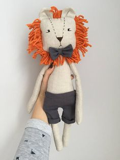LiON toy stuffed lion rag doll soft toy linen toy