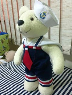 Urso marinheiro Baby Shower Vintage, Cute Pictures, Dolls, Teddy Bears, Children, Babys, Sailor Clothing, Sailor Party, Nautical Party