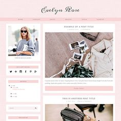 Blogger Template: Evelyn Rose - love this blog design!