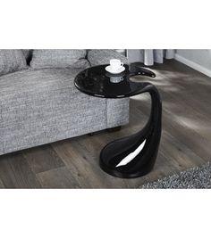 ORGANIC   Design Coffee Table Black High Gloss Retro Lounge Table Side Table    Www.