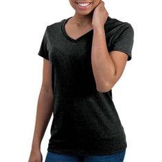 Faded Glory Women S Short Sleeve V Neck T Shirt Walmart Com