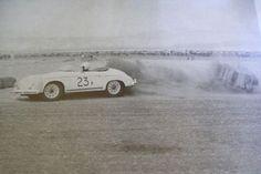 James Dean racing his Porsche 356 Rare Photos, Vintage Photos, Cool Photos, Grapes Of Wrath, Men Are Men, Jimmy Dean, East Of Eden, Actor James, Coachella Valley