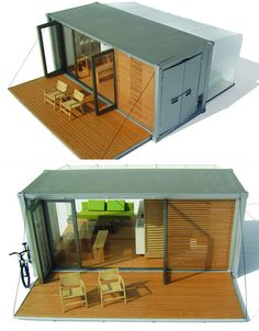 Shipping container homes are the perfect blend of modern architecture and sensible green building. Buy your own used cargo container on sale and start building today! Container Cabin, Cargo Container, Container House Design, Container Pool, Sea Container Homes, Container Buildings, Container Architecture, Architecture Design, Sustainable Architecture