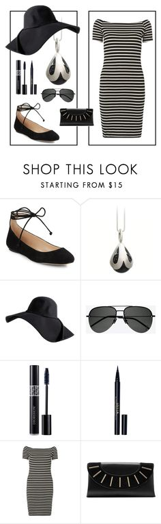 """""""B+W"""" by avagoldworks ❤ liked on Polyvore featuring Karl Lagerfeld, Yves Saint Laurent, Christian Dior, Stila, Dorothy Perkins, Diane Von Furstenberg and avagoldworks"""