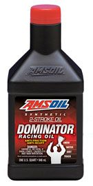 Racers can't win what they don't finish. That's why AMSOIL formulators built DOMINATOR® 2-Stroke Racing Oil. This complex blend of oils and additives directly addresses the heat, pressure and friction of race-engineered engines. These engines operate on the edge, yet engine reliability is critical. DOMINATOR does an outstanding job protecting high-performance engines. It adds durability that professional racing teams depend on and delivers confidence so engines can be pushed to the limit.