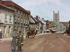 ANTIQUE PC VIEW OF HART STREET HENLEY ON THAMES OXFORDSHIRE E.J.BURROW 1905