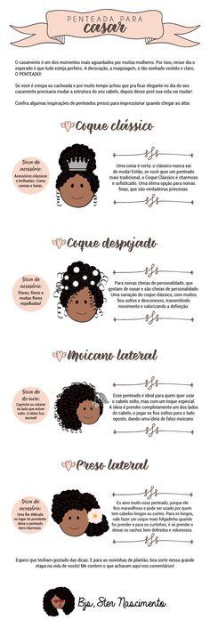 Penteados para noivas cacheadas