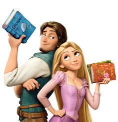 See?! Even Rapunzel and Flinn read Books!!!