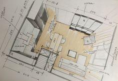 Fast sketch of interior (hand render by Magdalena Sobula_Pe2)