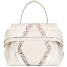 01ad3d391e96c Tod's Women Wave Leather & Python Bag For Lvr (€2.365) ❤ liked on Polyvore  featuring bags, handbags, white, real leather purses, white leather purse,  ...