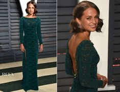 Alicia Vikander In Louis Vuitton – 2017 Vanity Fair Oscar Party