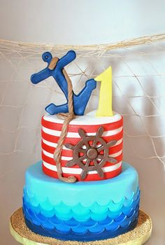 Popeye + Sailor themed birthday party via Kara's Party Ideas! KarasPartyIdeas.com (33)
