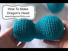 [Video Tutorial] These Magical Dragons Are Almost Ridiculously Adorable! - Page 2 of 2 - Knit And Crochet Daily Crochet Dragon Pattern, Crochet Hippo, Crochet Dinosaur, Crochet Teddy, Crochet For Kids, Crochet Toys, Knit Crochet, Crochet Stitches, Amigurumi Patterns
