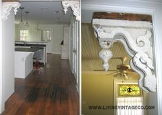 Using old corbels as decorative accessories -- lots of ideas.