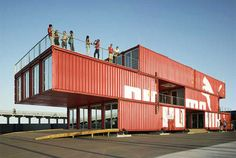 cool transportable Puma store, which can be taken apart and transported via ship from place to place and opened as a temporary store.