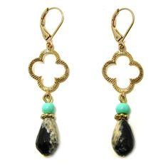 gouden oorbellen half edelsteen zwart wit groen zomer fashion fun girls beadies 9straatjes
