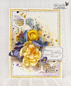 Crafting ideas from Sizzix UK: A birthday card by Olga