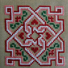 This Pin was discovered by Cec Biscornu Cross Stitch, Cross Stitch Cards, Cross Stitch Rose, Simple Cross Stitch, Cross Stitching, Hungarian Embroidery, Learn Embroidery, Cross Stitch Embroidery, Embroidery Patterns