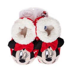8e8dd7d2e83 Minnie Mouse Kids Slippers - Red  Small Medium
