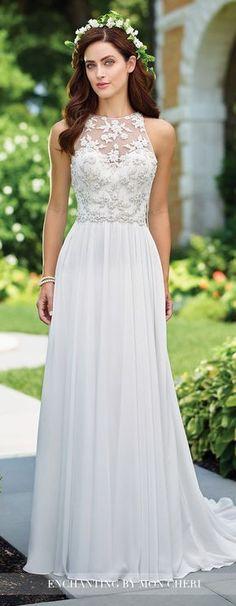 Boho Wedding Dress - enchanting by Mon Cheri 2017 #weddingdress