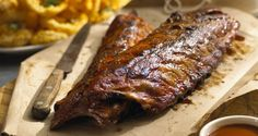 These Sweet Babyback Ribs are generously seasoned with Stubb's Bar-B-Q Rub then slow cooked over indirect heat.  They are then finished off with a sweet BBQ sauce.