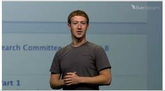 """Mark Zuckerberg announces Facebook's new Timeline. """"All of your stories, all of your apps arranged in a new way to express who you are.""""     #Mark Zuckerberg"""