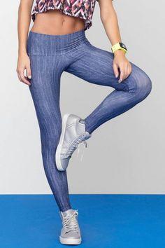 Calça Fusô Like Jeans • LIVE! • #shoponline #fitness #legging #jeans