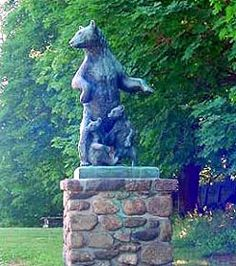 Collis P. Huntington State Park, Redding, CT  Life-like sculptures of bears and wolves welcome your arrival to this peaceful and tranquil setting featuring open fields and dense woodlands. The park was donated to the citizens of Connecticut by the internationally renowned Huntington family.