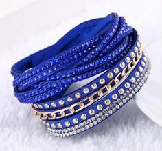 Multilayer Leather Charm Bracelets Vintage Design for Women