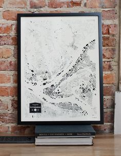 Pittsburgh City Buildings Map Print by CityFabric on Etsy, $36.00
