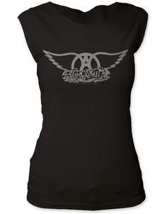 Aerosmith Logo Womens Tapered T-Shirt - Guaranteed Authentic.  Fast Shipping