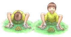Yoga houding: schildpad