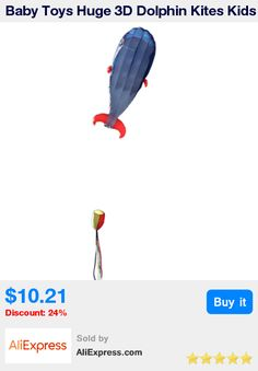 Baby Toys Huge 3D Dolphin Kites Kids Outdoor Fun Square Beach Flying Toy Cute Dolphin Kite Easy to Fly * Pub Date: 16:12 Jun 6 2017