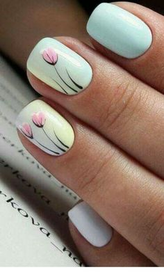 Get floral nail art and you're set to go. The patterns of floral nails art have gotten so intricate that it almost appears effortless. There are an assortment of things that could cause your nails to nice. Flower Nail Designs, Simple Nail Designs, Nail Art Designs, Cute Nails, Pretty Nails, Olive Nails, Floral Nail Art, Manicure Y Pedicure, Nail Decorations