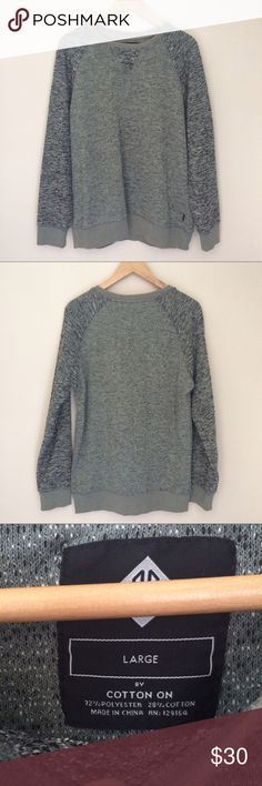 Pullover Woven Sweater Very cool sweater that doesn't itch! Any gray lover needs this in their 'drobe! Cotton On Sweaters Crewneck