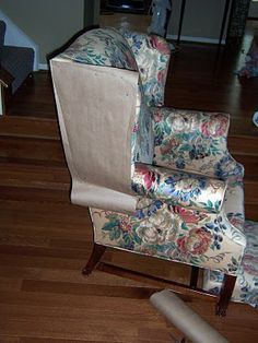 Great Tutorial On Making Slipcover Patterns. Chair SlipcoversWingback ...