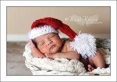 Baby Crochet Santa Hat Christmas Photography Prop DIY crafts or buy $15.99