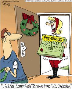 The Flying McCoys on GoComics.com #humor #comics #Christmas