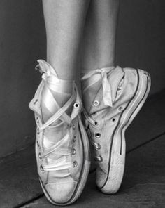 Ballet sneakers. I like this but I don't think I could pull this off