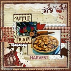 Apple Pickin' - Food Scrabook Layout