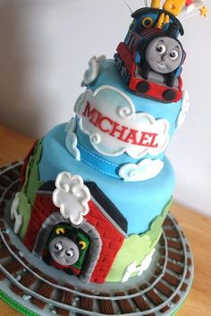 Thomas the Tank Engine by Zoe's Fancy Cakes, who also has a You Tube channel, check out her fb page! they are fab :)