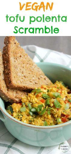 Tofu Polenta Breakfast Scramble | Vegan for Weight Loss | Easy Vegan Breakfast | Healthy Vegan Recipes | Whole Food Plant Based | Healthy Eating