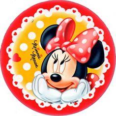 disco cialda per decorazioni torta festa a tema minnie 01 - Party e Balloon - Addobbi Feste per Bambini - Matrimoni - Lanterne Speciali