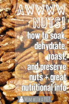 Mom with a PREP | Nuts  Seeds can be a viable option for protein  other nutrients. Learn to roast, grind, dehydrate and store them for long-term storage.